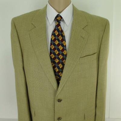 46 L Jack Victor Beige Silk Wool Linen 2 Btn Mens Jacket Sport Coat Blazer Mint