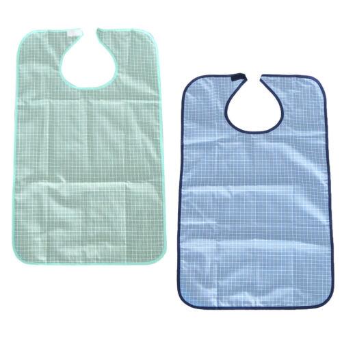 2pcs Adult Bib Reusable Clothing Protector Waterproof Senior