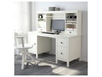 IKEA HEMNES Desk with add-on unit + free assembling and delivery