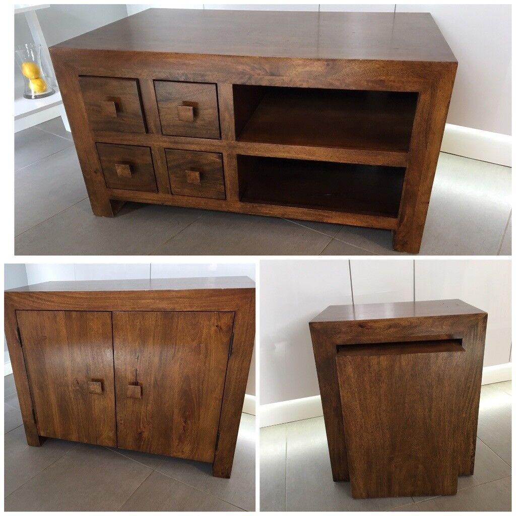 Next Sideboard/ TV Cabinet/ Side Table Set   Dark Wood