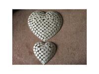 Metal hearts (wall hung)