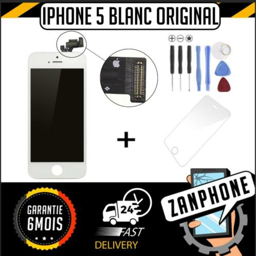 Ecran iphone 5 blanc original apple + chassis +vitre tactile