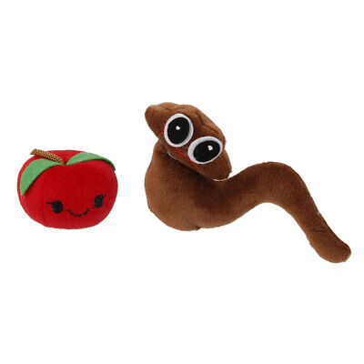 Apple Worm Finger Puppets Soft Cloth Toy Play Learn Story Party Bag Fillers ()