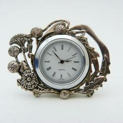 ART NOUVEAU STYLE SMALL QUARTZ DESK CLOCK MADE BY SILVER SCENES