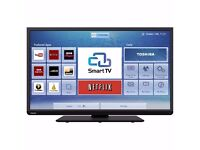 40 TOSHIBA FULL HIGH DEFINITION SMART LED TV WITH WIFI BUILT-IN + FREEVIEW HD