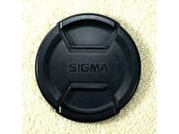 Sigma 82mm front lens cap for Canon Nikon Sony dslr cameras and lenses