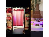 Chocolate fountains, chair covers, photobooths, candy floss and more