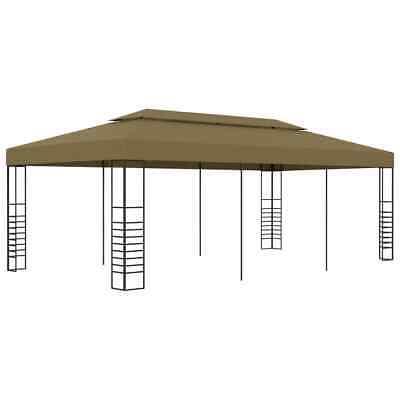 vidaXL Cenador de Jardín 6x3x2,7 m Gris Taupe 180 g/m² Pérgola Toldo...