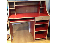 Red IKEA Children's Desk