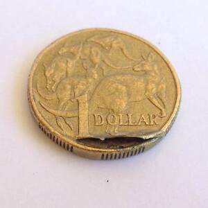 Error Coins: Australian 1998  $1 One Dollar Major Lamination Peel Adelaide CBD Adelaide City Preview