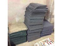 Used carpet tiles