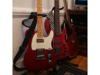 Fender Telecaster MIM w/Bare Knuckles, Spider Hardcase + Aria Bass