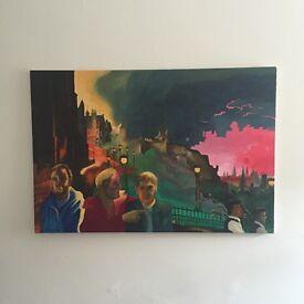Stunning oil on canvas original painting! £75.
