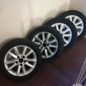 Set of e46 alloys. Two grey color, two white.