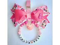 Pink Minnie Mouse Pram charm