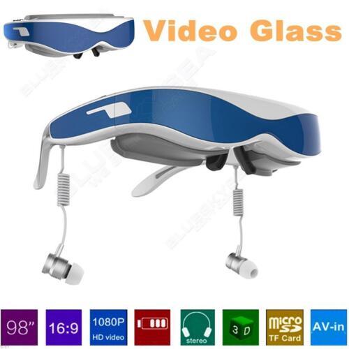 "98"" LCD Virtual Display 1080P 3D Video Glasses VGA HDMI For PS2 PS3 XBOX TV PC"