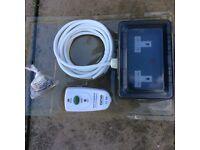 Waterproof outdoor double socket.