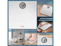 Digital Bathroom Scales Weighing Scales with Step-On Technology, LCD Display(Stone/kgs/lbs)