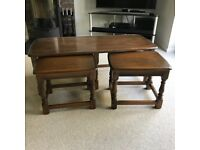 Ercol Coffee Table with 2 Small Side Tables