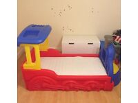 Childrens Little Tike Train Bed