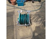 Hozelock Wall mounted hose reel with 30m of hosepipe