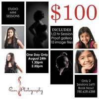 $100 photo session!
