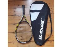Babolat Junior Tennis Racquet - Aeropro Drive Jn 25 plus case in excllent condition