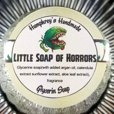 LITTLE SOAP OF HORRORS Halloween Soap, Glow in the Dark Glycerin Bar Argan Oil - Bar Sinister Halloween
