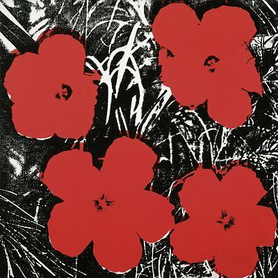 Flowers  C 1964  4 Red  By Andy Warhol Art Print Poster Floral Flower 23 5X23 5