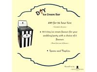 D.I.Y Ice Cream Bar | Only £89 for 24hr hire