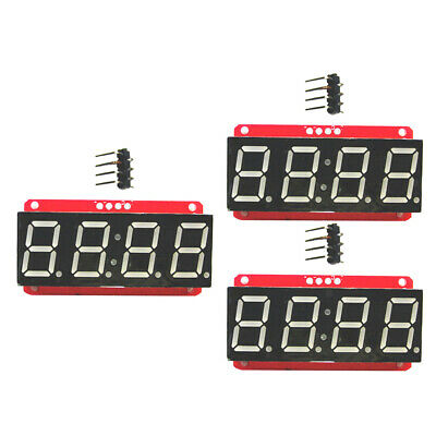 3x 4 Digit 7-segment 0.56 Led Display Module Clock Ht16k33 I2c For Arduino