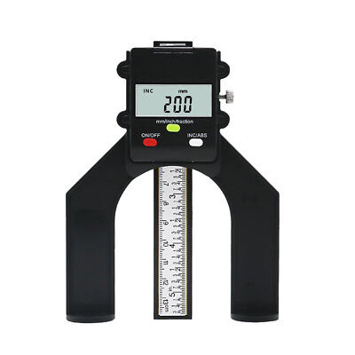 Digitaler Tiefenlehre Tiefenmesser Holzbearbeitung Messschieber Höhenmesser 80mm