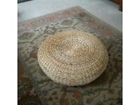 Rattan low stool, never used