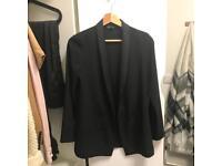 Topshop slim fit causal black blazer