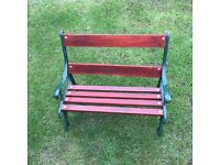 cast iron bench& table