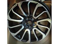 "22"" inch 5x120 Diamond Cut Multi Spoke Alloy Wheel Rim Fits Range Rover Sport, Vogue and Discovery"