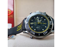 Rossco's Watches. Omega Seamaster Professional. Rubber Strap. New, Boxed with Paperwork