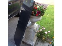 Black marble effect hearth