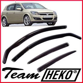 Brand New HEKO Wind Deflectors for Vauxhall Astra H mk 5 doors 2004 - 2009 Hatchback