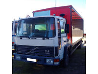 Left hand drive Volvo FL613 Turbo 13 ton truck. Manual injector pump.