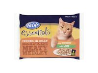 HiLife Meaty Medley in Jelly Cat Food Pouches 52 pk. Flavours: Chicken, Lamb