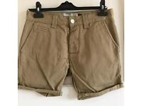 Topman Camel Skinny Chino Shorts