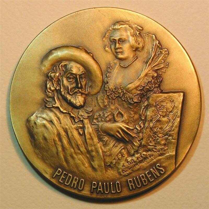 Art / Painter Rubens and the Four Philosophers / Magnific Bronze Medal M1