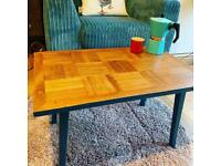 Retro parquet coffee table - SOLD