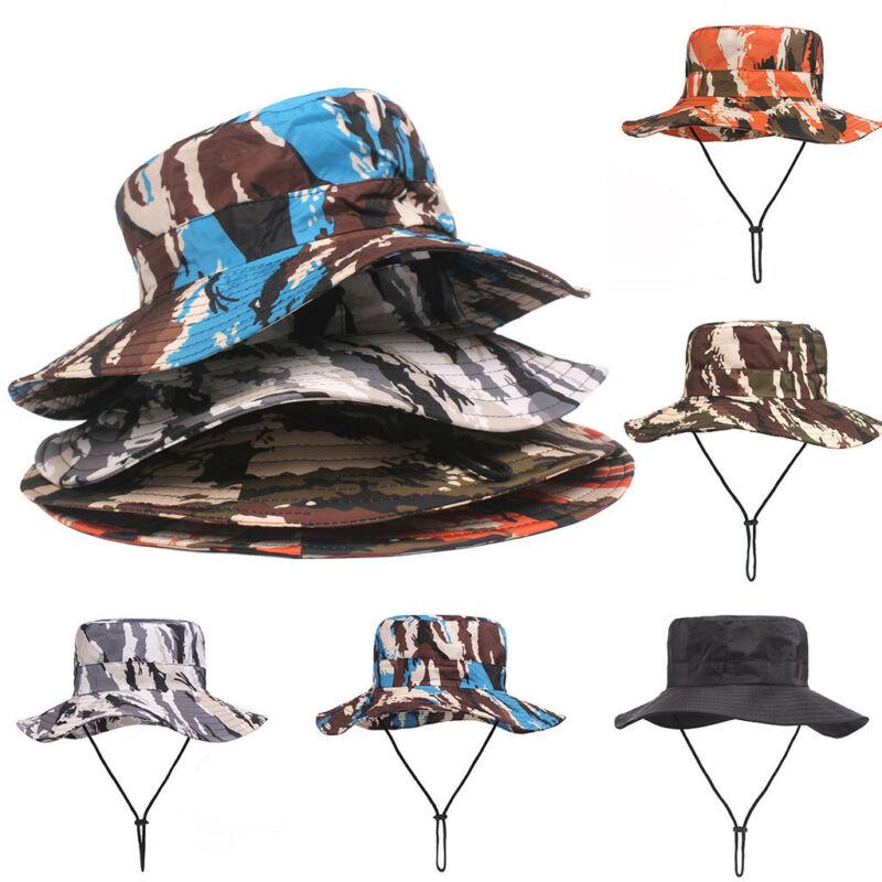 Fashion Unisex Summer Outdoor Sun Hat Bucket Mesh Boonie Hat