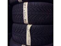 275/40/20 x2 good tread tyres