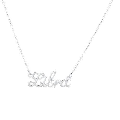 Lux Accessories Horoscope Zodiac Sign Libra Silver Necklace