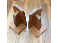 Beautiful wooden vintage book ends