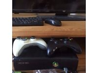 XBOX 360 + controllers and games