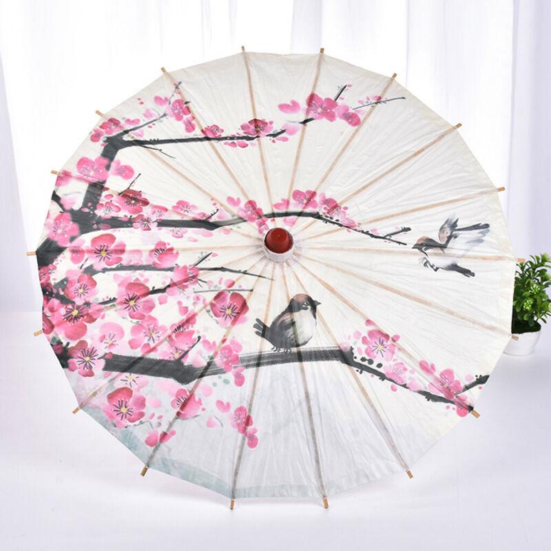 Chinese Japanese Umbrella Art Deco Painted Parasol Wedding